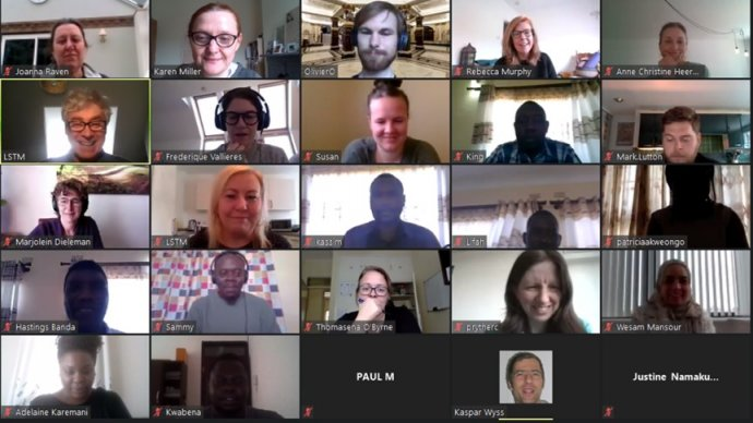 A screengrab of a video conference call