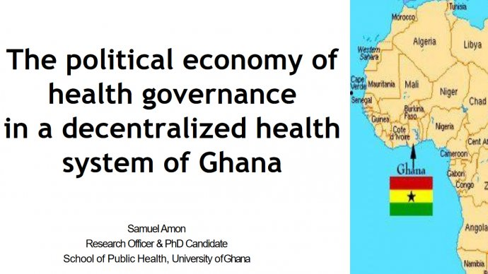 presentation title and a map of Africa showing Ghana