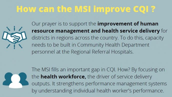 Screengrab from the brief with the title how can the MSI improve CQI?