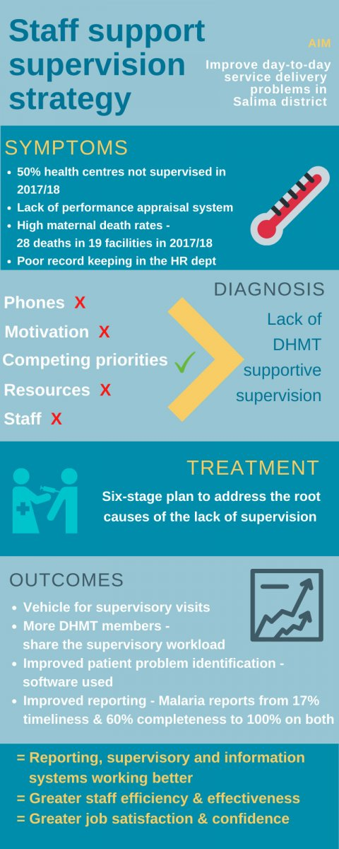 Infographic showing staff supervision strategy stages