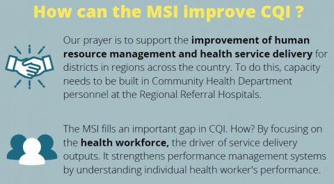 Screengrab of the brief with the title how can the MSI imrpove CQI?